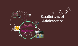 Copy of Challenges of Adolescence