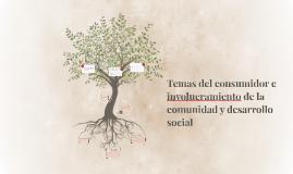 Temas del consumidor e involucramiento de la comunidad y des