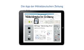 Copy of Die App der Mitteldeutschen Zeitung