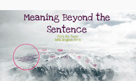 Copy of meaning beyond a sentence