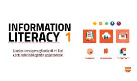 Riepilogo Laboratorio information literacy 2017 trovare