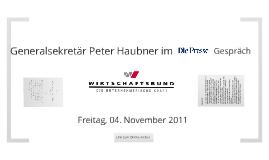 Peter Haubner im Presse-Gespräch