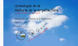 Cronología de la Historia de la Arquitectura