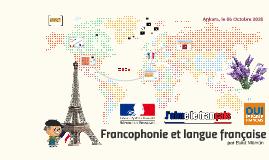 Francophonie et langue française