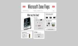 Microsoft Zune Flops