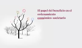 El papel del beneficio en el ordenamiento económico-societa