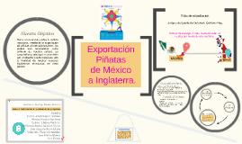 Exportación de piñatas de México hacia a Inglaterra.