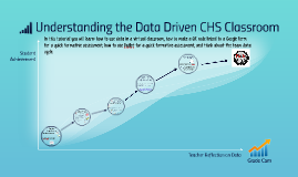 Understanding the Data Driven CHS Classroom