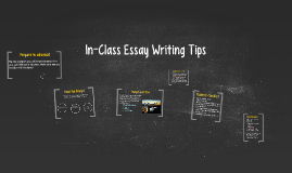 In-class essay writing