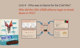 Copy of Unit 5- Cold war: superpower tensions and rivalries