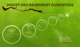 DESERT AND RAINFOREST ECOSYSTEMS