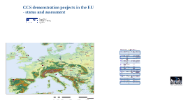 Copy of CCS demonstration projects in Europe