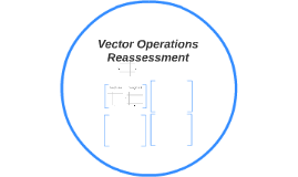 Vector Operations Reassment