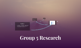 Group 5 Research