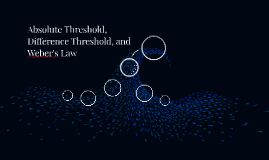 Absolute Threshold, Difference Threshold, and Weber's Law