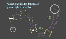 Analisis de Estabilidad de lyapunov y control optimo cuadratico