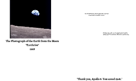 The Photograph of the Earth from the Moon