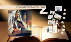 GENEROS LITERARIOS DE LA BIBLIA