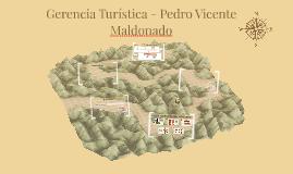 Gerencia Turística - Pedro Vicente Maldonado
