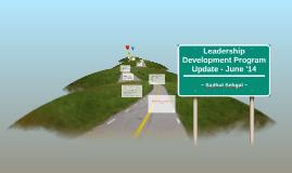 Leadership Development Program Update