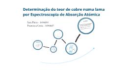 Determinação do teor de cobre numa lama por Espectroscopia de Absorção Atómica