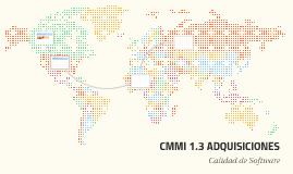 CMMI 1.3 ADQUISICIONES