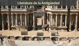 Literatura de la Antigüedad