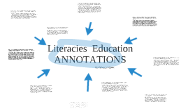 Literacies Education Annotations