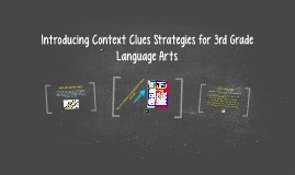 Copy of Introducing Context Clues Strategies for 3rd Grade Language