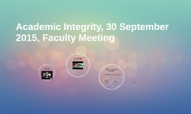 Copy of Academic Integrity, 30 September 2015, Faculty Meeting