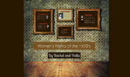 Women's Rights of the 1920's
