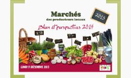 Bilan marchés 2013