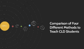 Comparison of Four Different Methods to Teach CLD Students
