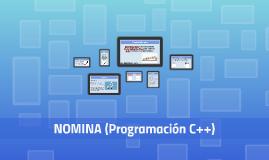 NOMINA (Programación C++)