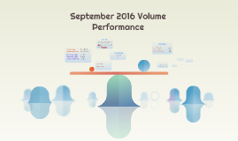 September 2016 Volume Performance