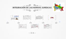 INTEGRACIÓN DE LAS NORMAS JURÍDICAS