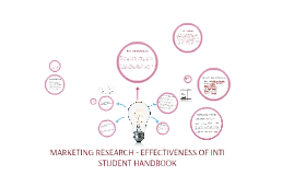 MARKETING RESEARCH - EFFECTIVENESS OF INTI STUDENT HANDBOOK