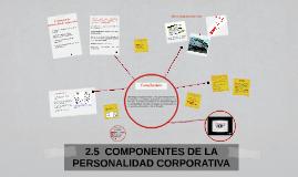 2.5  COMPONENTES DE LA PERSONALIDAD