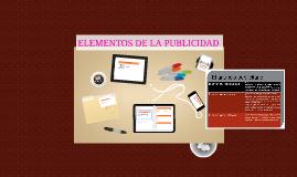 ELEMENTOS DE LA PUBLICIDAD