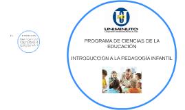 PROGRAMA DE INTRODUCCIÓN A LA PEDAGOGÍA INFANTIL