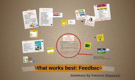 What works best: Feedback