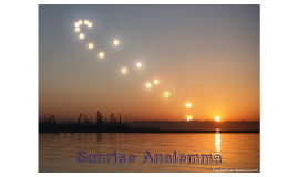 Sunrise Analemma