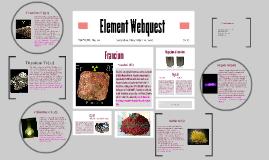Element Webquest
