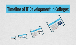 Timeline of IT Development in Colleges
