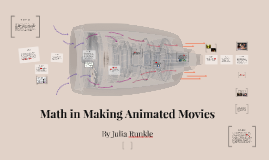 Math in Making Animated Movies