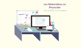 Las Matemáticas en Preescolar