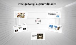 Psicopatología, generalidades