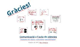 Comunicació a l'aula de ciències