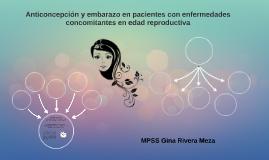 Anticoncepción y embarazo en pacientes en edad reproductiva
