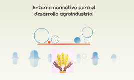 Entorno normativo para el desarrollo agroindustrial